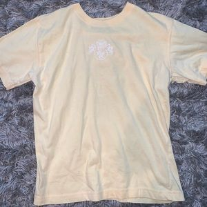 Pale yellow vintage top